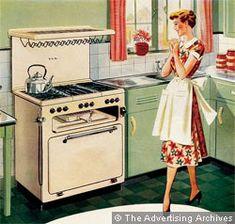 kitchen vintage illustration
