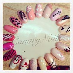 Pink polish nail art designs