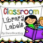 Create an instant library with these book bin labels {rainbow polka dots on black background}! There are over 70+ labels included for you to use an...