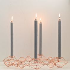 Copper Danish Candle Holder