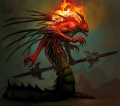 View an image titled 'Enemy Concept Art' in our Diablo III art gallery featuring official character designs, concept art, and promo pictures. Concept Art World, Creature Concept Art, Creature Design, Character Concept, Character Art, Character Design, Fantasy Monster, Monster Art, Fantasy Images