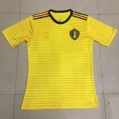 2018 World Cup Jersey Belgium Away Replica Yellow Shirt  BFC722  Soccer  Tips 850fd85da