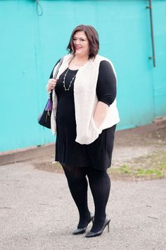03c95d75f11 A plus size layered outfit for fall and winter as seen on Louisville  blogger Authentically Emmie