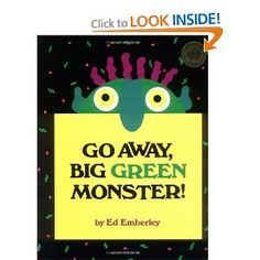 SusieQTpies Cafe: Go Away Big Green Monster-give me peace! Great book for kids who are scared of monsters.