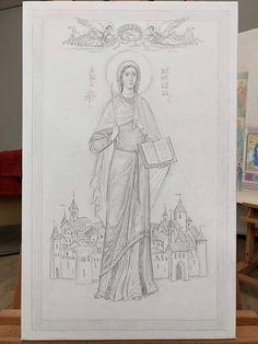 San Rocco, Byzantine Icons, Orthodox Icons, Painting Lessons, Fresco, Jesus Christ, Sketches, Faith, Cartoon