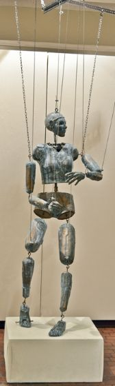 From a HS AP student...a life-sized marionette!  I wish Pinned had added the artist's name!