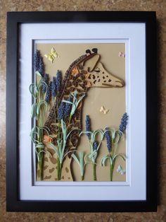 Paper Quilled Giraffe