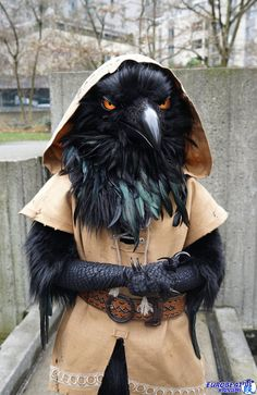 I will be at ECCC 2018 this weekend! The only time you will be able to identify me is when I'm wearing whatever the heck this is, which will be for a few hours on both Saturday and Sunday, probably sometime between pm. LOOK FOR ME OR. Raven Costume, Bird Costume, Cool Costumes, Halloween Costumes, Character Inspiration, Character Design, Cosplay Armor, Rabe, Tangled
