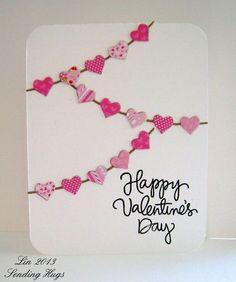 Como hacer tarjeta postal #SanValentín #Valentinesday con #retales de #tela y #cartón #ecología #reciclar #reutilizar