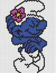 Vanity Smurf bead pattern