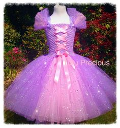 Disney Inspired Tangled, Princess Rapunzel Tutu Dress - Dressing up / Costume