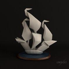 Amazing origami boat