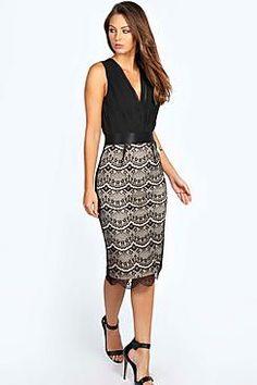 Boutique Tasha 2 in 1 Bodycon Midi Dress