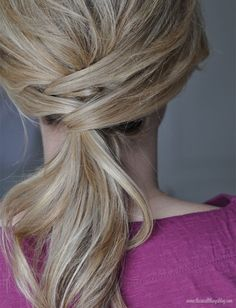 The Small Things Blog: Not Just a Ponytail Hair Tutorial: