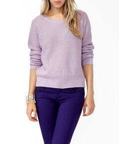 Relaxed Open Knit Sweater #sweaterweather
