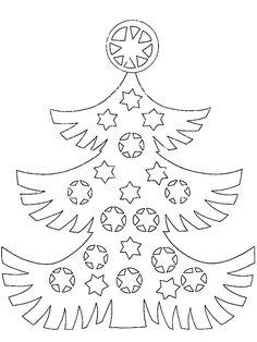 vánoční stromeček vystřihovánka