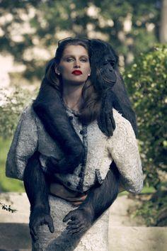 """Sensual & Baroque"" | Model: Laetitia Casta, Photographer: Sean & Seng, Vogue Turkey, November 2012"