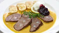 Svíčková s knedlíkem je klasika Steak, Good Food, Beef, Ethnic Recipes, Fun, Birthday, Meat, Steaks, Healthy Food
