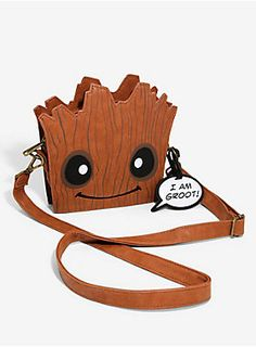 Loungefly Guardians Of The Galaxy I Am Groot Baby Groot Face Crossbody Bag | Her Universe