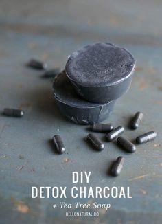 Detox Charcoal and Tea Tree Soap