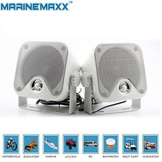 """4"""" Heavy Duty Waterproof Boat Marine Box Outdoor Speakers Surface Mounted for Boat Motorcycle ATV UTV RZR Golf Cart Powersports Truck - White. 4"""" Waterproof Marine HIFI Pod Full Range Speakers. Maximum handling 100 watts(Pair) , Frequency response 80 - 20,000Hz , Impedance 4 ohms. Waterproof Level:IP66 Perfect for Marine, Automobile & Off-Road Vehicles ATV UTV RZR Boat Motorcycle MotorBike RV. Self-contained pod speakers with mounting brackets. Product Dimensions 4.4""""(112mm) (W) x..."""