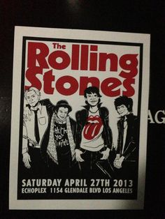 Surprise Intimate Rolling Stones concert given at Echo Park - warm up for their 2013 tour - tickets were only twenty dollars! Only 320 folks got to see them! Chance of a life-time - great! Tour Posters, Band Posters, Music Posters, Event Posters, Rolling Stones Concert, Rolling Stones Tour, Rock And Roll Bands, Rock N Roll, Rolling Stones Album Covers