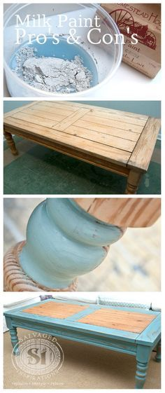 Have you tried Milk Paint... or are you thinking of trying it? Here are some pro's and con's to consider before you do. I have to admit, I love the end results though!