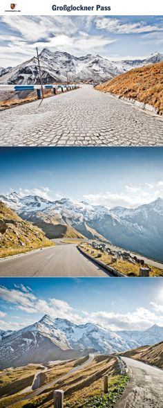 Großglockner Pass, Austria. A winding pass to the highest mountain in Austria. Start: Zell am See. Destination: Gmünd in Kärnten. Driving time: Approx. 3 hours. Distance: Approx. 166 km (103 miles). Recommended travel time: Start of May - Start of November.   Learn more: http://link.porsche.com/gts/austria