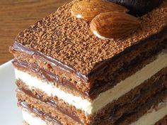 Tort  Opera - imagine 1 mare Romanian Food, Romanian Recipes, Cheesecakes, Tiramisu, Recipies, Deserts, Cooking Recipes, Sweets, Ethnic Recipes