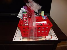 My daughter's first grade teacher made her a NC State goodie basket for her high school graduation gift