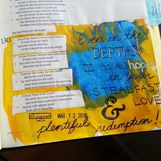 Steadfast Love and Plentiful Redemption Psalm 130. I started the day with this psalm in my Lent devotional. The Lord led me to journal it and reflect on it instead of some other pieces I had in mind. I didn't understand why until tonight's service. The message continued our series on words focusing on anger. The Lord revealed to me some unresolved hurts in my heart and those truths in a different time in my life would have plunged me into the depths. But tonight I was buoyed by His steadfast…
