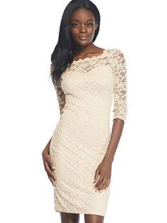 Arden B. Women's Sheer Scalloped Lace Midi Dress     #Arden, #Dress, #Lace, #Midi, #Scalloped, #Sheer, #Womens