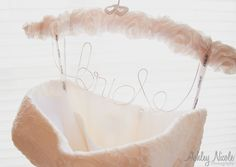 Traditional Wedding Details- Bridal gown with customized bride hanger