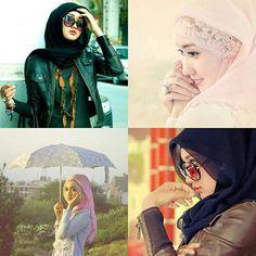 Islam is beautiful.  Ladies / women in Islam fashion styles.. Hijab..hijabi Dian pelangi