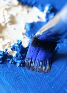 Poem: Im Rausch der Farbe - Creative - Club Creative, Angst, Poems, Rings For Men, Colours, Club, Brushes, Cobalt Blue, Color Script