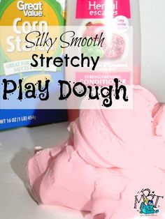 This play dough recipe is SO much fun! It is stretchy and SUPER silky smooth! I have never met a kid who does not LOVE this play dough! You'll love playing with this Silky Smooth Homemade Play Dough. Crafts For Teens To Make, Crafts To Sell, Easy Crafts, Diy And Crafts, Creative Crafts, Kids Crafts, Easy Diy, Preschool Projects, Preschool Science