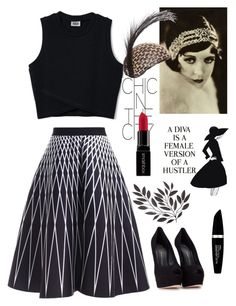 """Elegant Lady~"" by amy0527 ❤ liked on Polyvore featuring WALL, Giuseppe Zanotti, Max Factor and Smashbox"