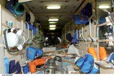 Zarya Module equipment storage on the ISS.