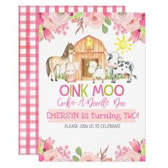2nd Birthday Party For Girl, Second Birthday Ideas, Girl Birthday Themes, Farm Animal Birthday, Farm Birthday, Spa Birthday, Birthday Animals, Cowgirl Birthday, Cowgirl Party
