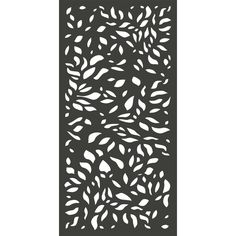 x 3 ft. Charcoal Gray Modinex Decorative Composite Fence Panel Featured in the Botanical – The Home Depot - Modern