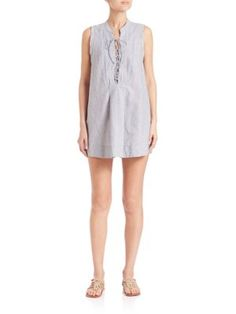 FREE PEOPLE Editor Lace-Up Mini Dress. #freepeople #cloth #dress