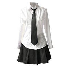 Partiss Japan Schuluniform Maedchen Kostuem Cosplay Lolita gotische Langarm  Anzug Mantel Bluse mit Faltenrock fuer Party 833aadced8
