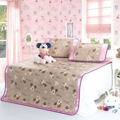 Mickey And Minnie Light Pink Disney Summer Sleeping Mat Set Disney Bedding, Bedding Sets, Dreaming Of You, Toddler Bed, Sleep, Summer, Pink, Furniture, Home Decor