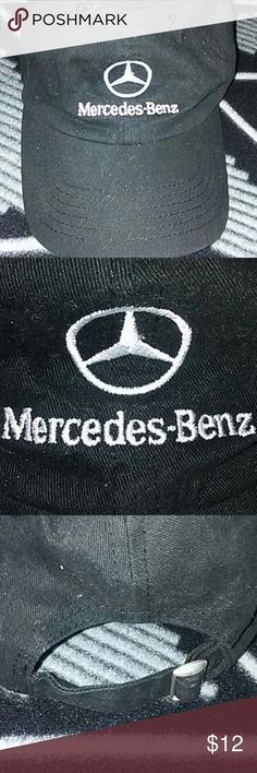 Mercedes-Benz Cap /OSFA Mercedes-Benz black cap. Has adjustable strap on back. Mercedes-Benz tag inside as shown in last photo. Also any specks you see in any of the photos is just some lint. No damage or flaws what so ever. Mercedes-Benz Accessories Hats