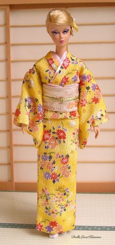 Excited to share the latest addition to my #etsy shop: fashion doll clothes yellow kimono set for Barbie dolls and other similar sized dolls handmade https://etsy.me/2qP61Ut #toys #yellow #red #barbieclothes #barbiekimono #dollkimono #ooak #handmade #dollcollectorgift