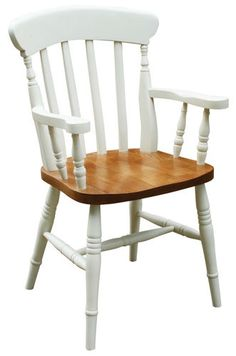 Honeysuckle Country Chic Painted Pine Carver Slat Kitchen Dining Chair 9 COLOURS | eBay