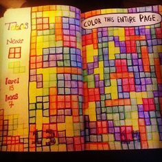 Wreck This Journal - Tetris