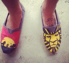 How great are these? Disney's The Lion King themed toms by ArtScribbles on Etsy, $72.00