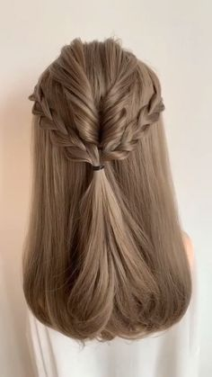 Easy Hairstyles For Long Hair, Braids For Long Hair, Cute Hairstyles, Curly Hair, Latest Hairstyles, Hairstyles Videos, Easy Wedding Hairstyles, Hairstyles For Women, School Hairstyles