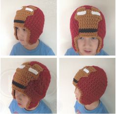 Iron Man Mask CrochetOne of my boys' best buddies is the BIGGEST little Iron Man fan, so of course, I couldn't just m